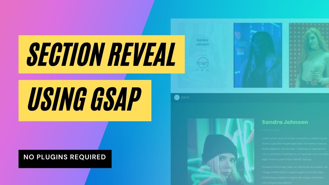 How to create a Section Reveal animation using GSAP in Divi